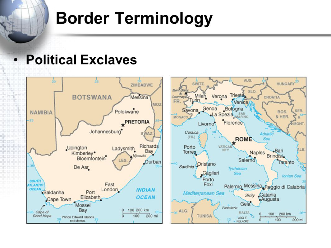 Border Terminology Political Exclaves