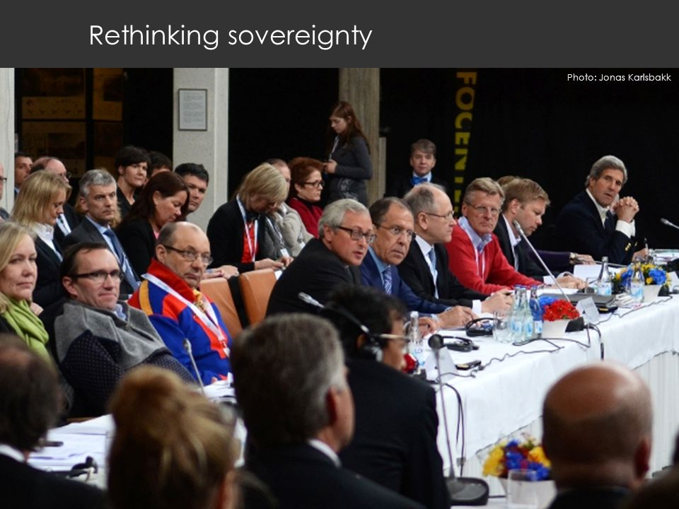 Rethinking sovereignty Photo: Jonas Karlsbakk