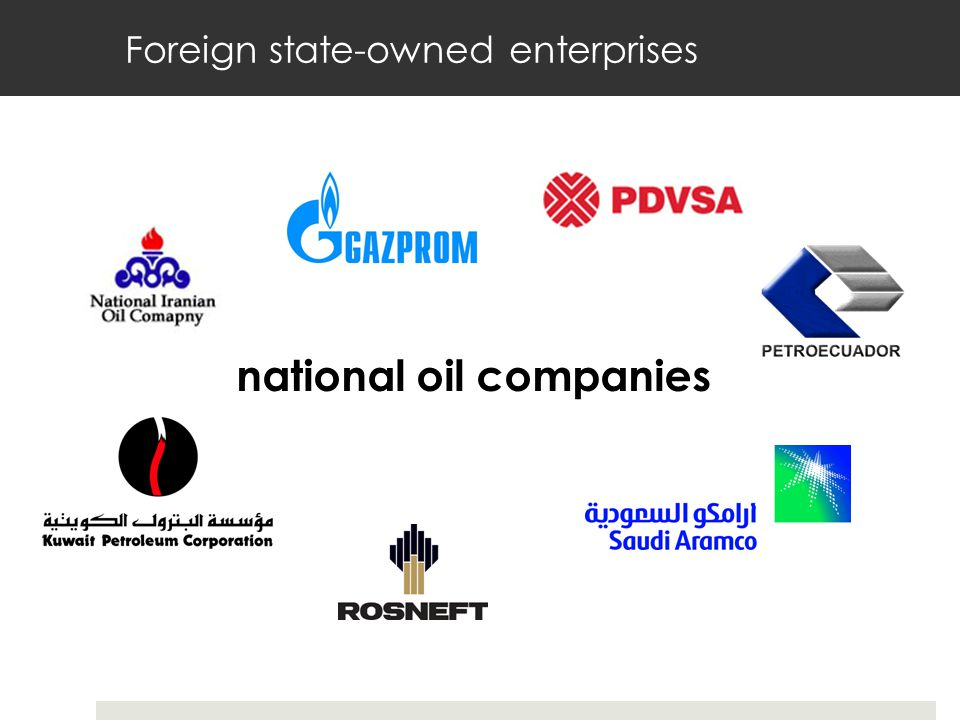 Foreign state-owned enterprises national oil companies