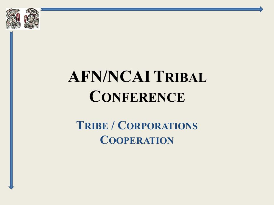 AFN/NCAI T RIBAL C ONFERENCE T RIBE / C ORPORATIONS C OOPERATION