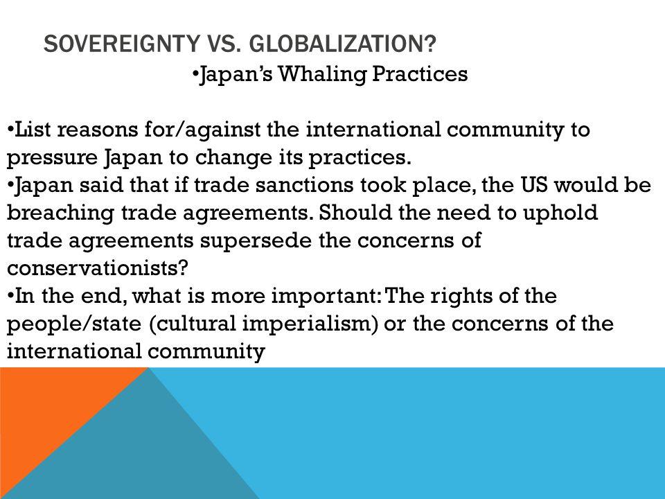 SOVEREIGNTY VS. GLOBALIZATION.