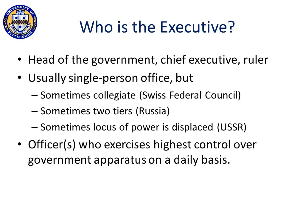 Who is the Executive.