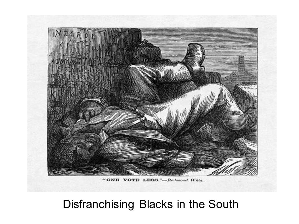 Disfranchising Blacks in the South