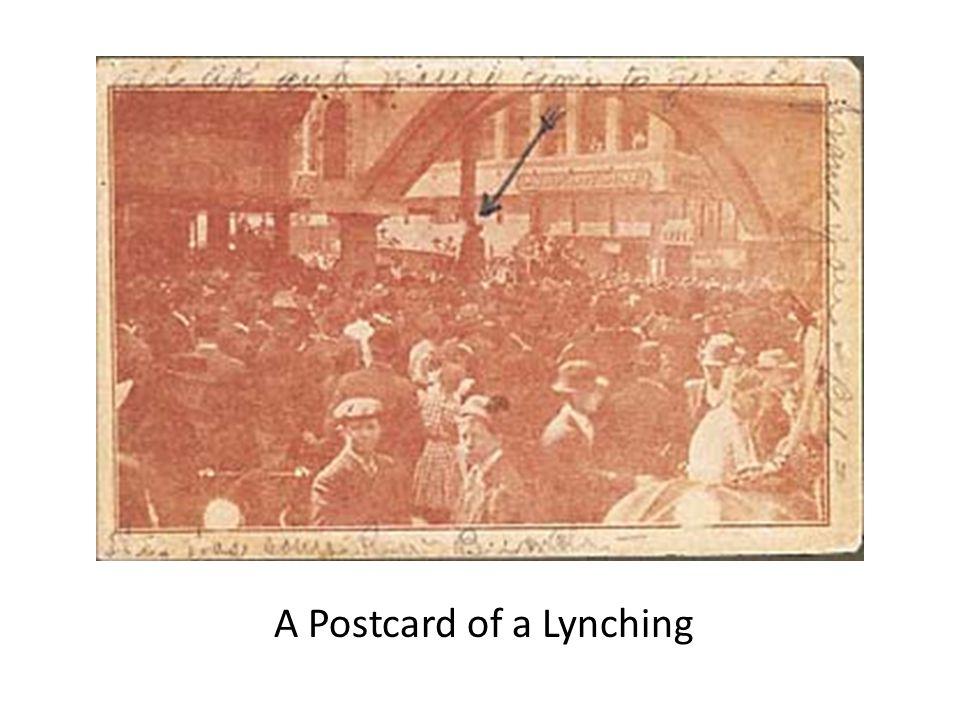 A Postcard of a Lynching