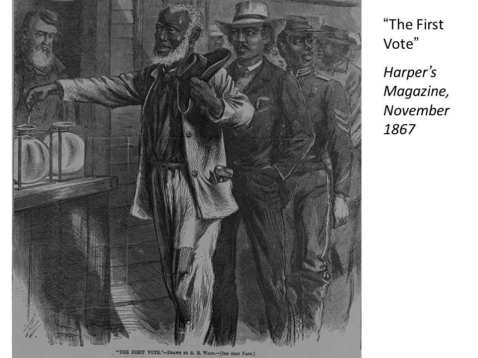 """"""" The First Vote """" Harper ' s Magazine, November 1867"""