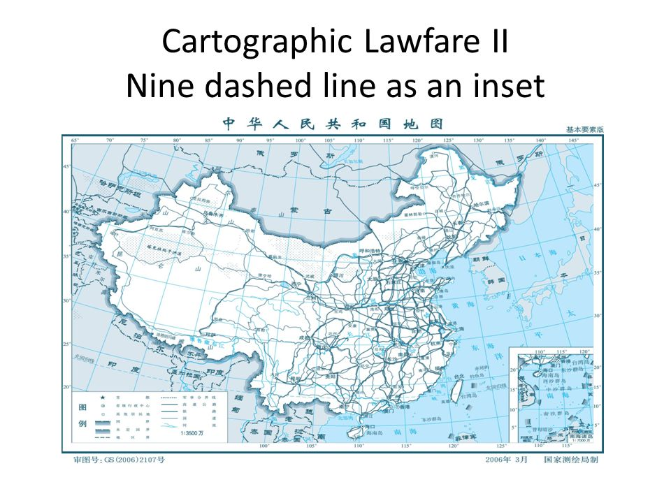 Cartographic Lawfare II Nine dashed line as an inset