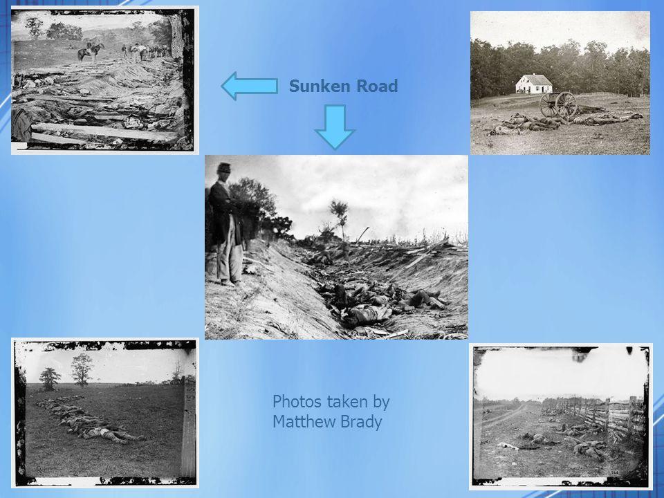 Sunken Road Photos taken by Matthew Brady