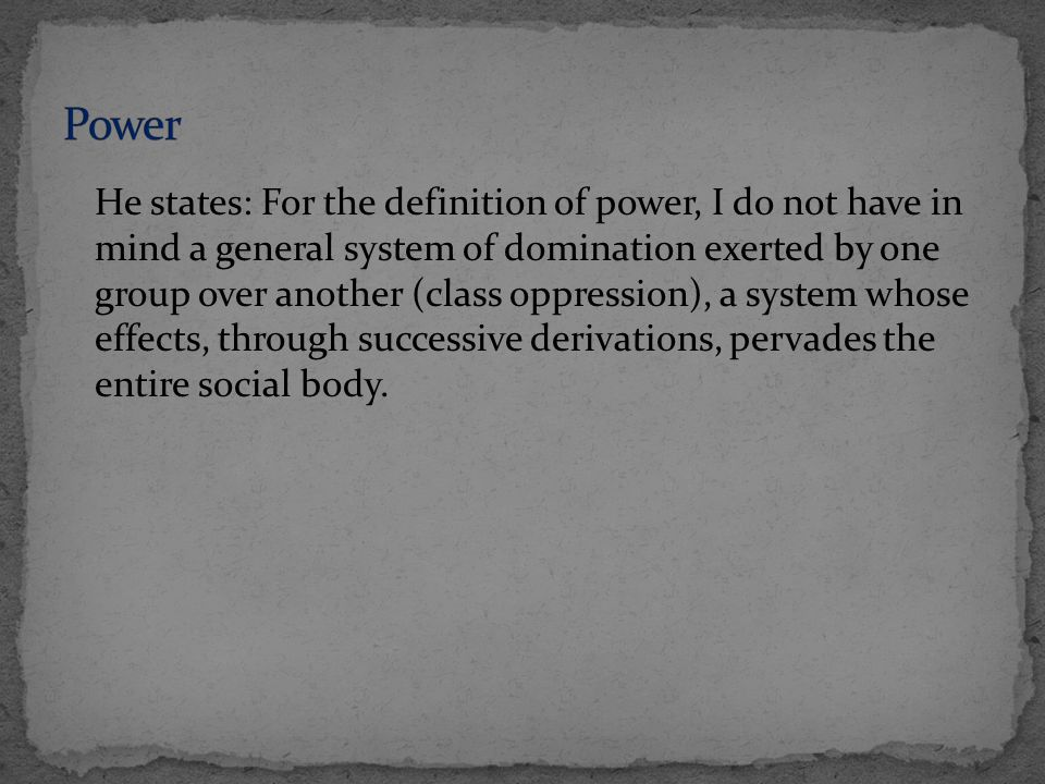 Disciplinary power deals with normalization of individual bodies = birth of normative law.