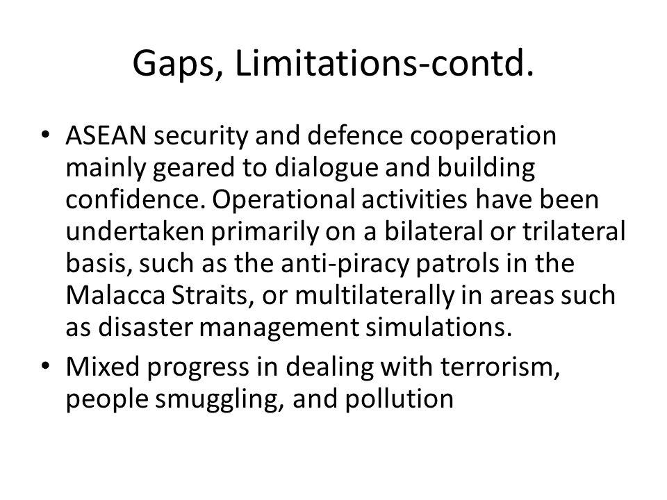 Gaps, Limitations-contd.