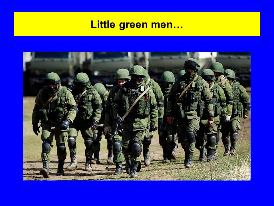 Little green men…