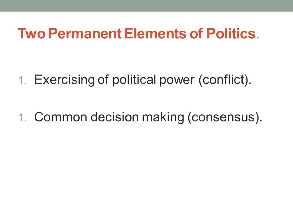 Bases of Power LOVE: As an important factor in relationships between two individuals, love may affect political behavior.