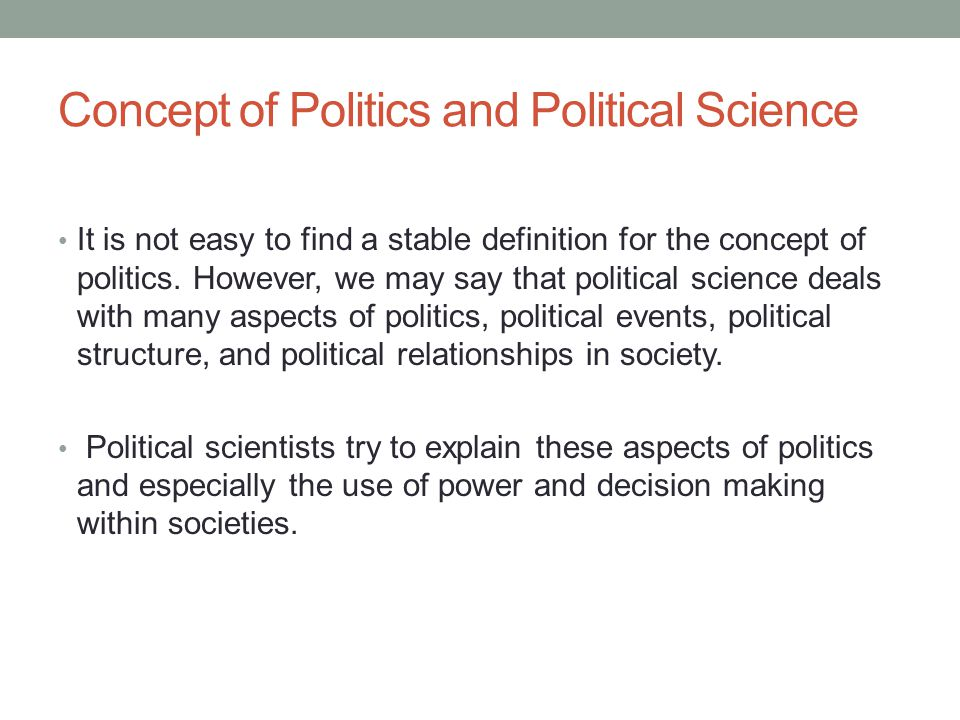 Sub-fields of Political Science 1.