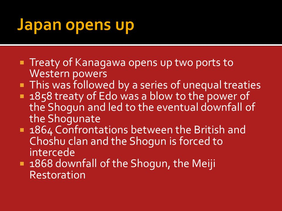  Marks the beginning of Japan's dominance in East Asia and the beginning of the end of China's dominance  Japan had clearly come of age.