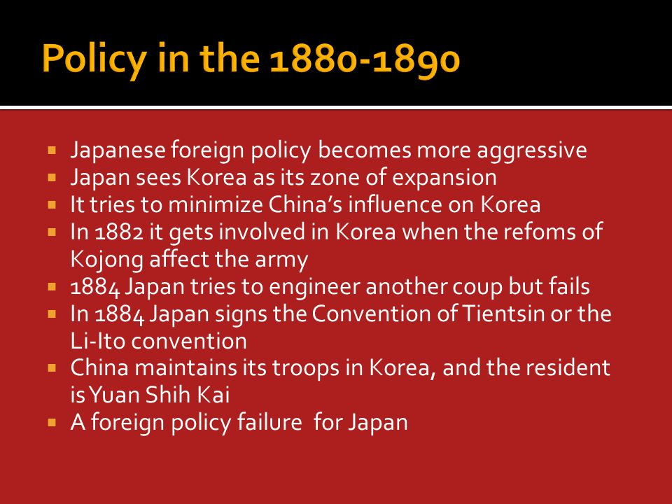  Japan capitalised on growing Russiana nd British tensions  In London negotiations were opened  The treaty that followed was that each was to remain neutral in the event of a fight, but if two or more were involved then the alliance would work  Marked the end of unequal treaties  Recognition of Japan's military and naval prowess  Recogniton of Japanese imperial aims  Japan now has great power status