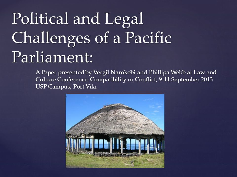   This paper is part of a larger project that we are working on, providing an account of the inaugural Pacific Parliamentary and Political Leaders Forum held in Wellington, New Zealand in April 18-22 2013.