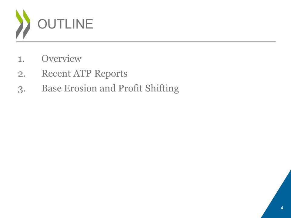 1.Overview 2.Recent ATP Reports 3.Base Erosion and Profit Shifting OUTLINE 4