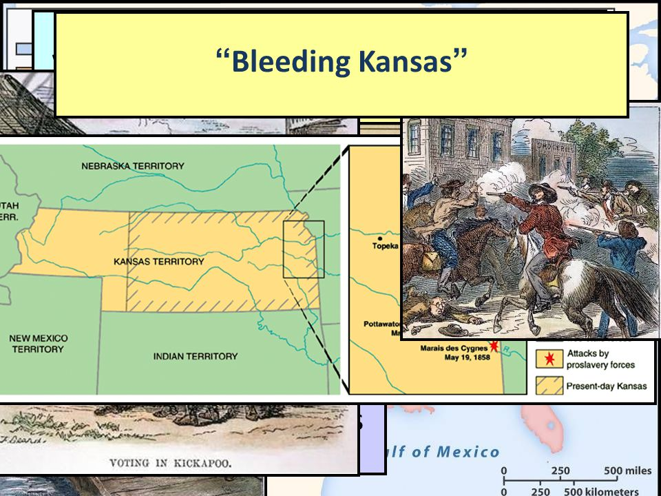 Sectionalism: 1850-1856 Popular sovereignty failed to settle the slavery question in the West: –When a vote was held in Kansas in 1855 to decide on sl