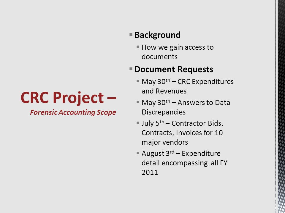 TASK ORDER DESCRIPTIONORIGINAL COST CHANGE ORDERS TOTAL COST AATo provide scoping of CRC Project.