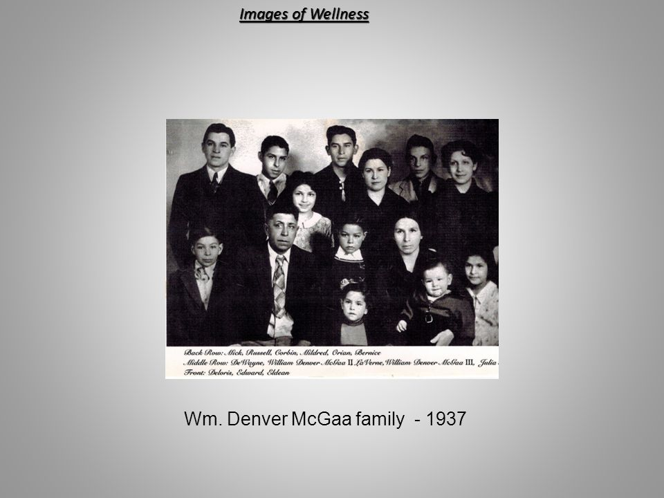 Wm. Denver McGaa family - 1937