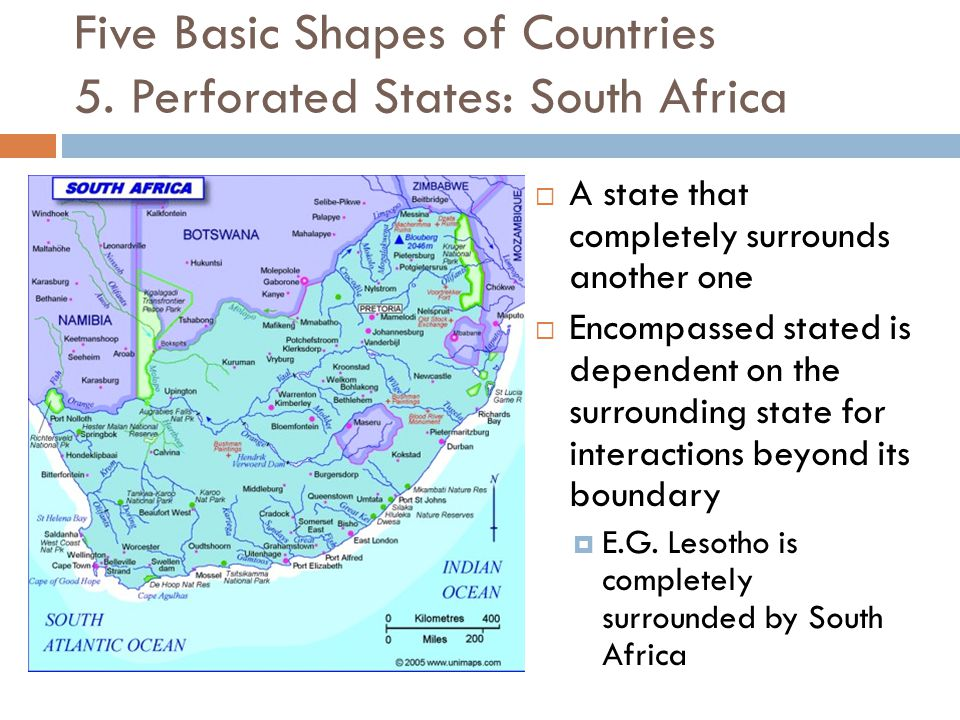  A state that completely surrounds another one  Encompassed stated is dependent on the surrounding state for interactions beyond its boundary  E.G.