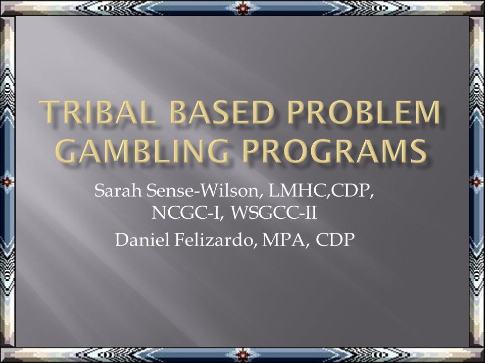 Sarah Sense-Wilson, LMHC,CDP, NCGC-I, WSGCC-II Daniel Felizardo, MPA, CDP