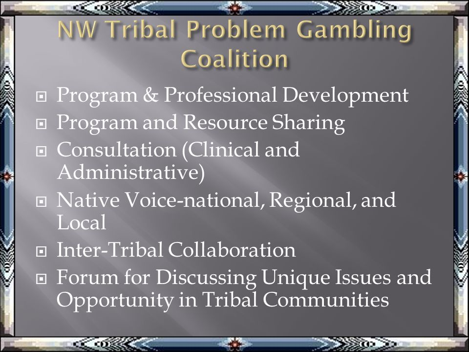  Program & Professional Development  Program and Resource Sharing  Consultation (Clinical and Administrative)  Native Voice-national, Regional, and Local  Inter-Tribal Collaboration  Forum for Discussing Unique Issues and Opportunity in Tribal Communities
