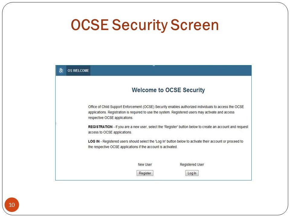OCSE Security Screen 10