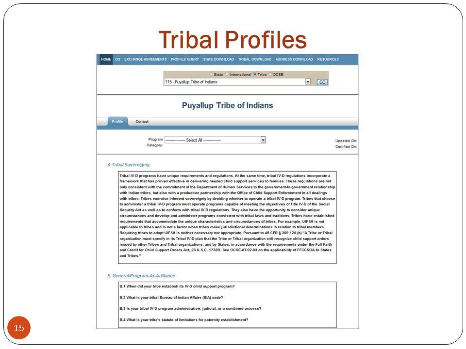 Tribal Profiles 15