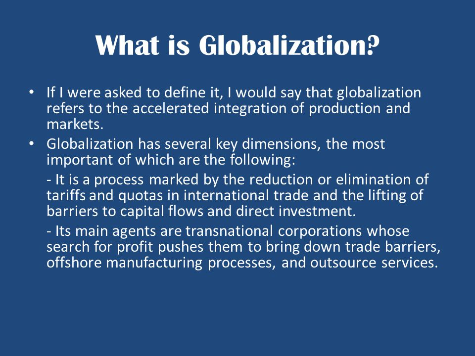 Deglobalization s Pedigree A few words in conclusion.