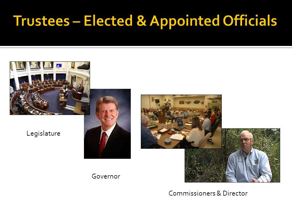 Legislature Governor Commissioners & Director
