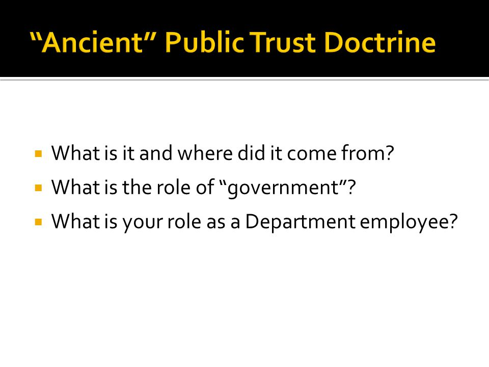  What is it and where did it come from.  What is the role of government .