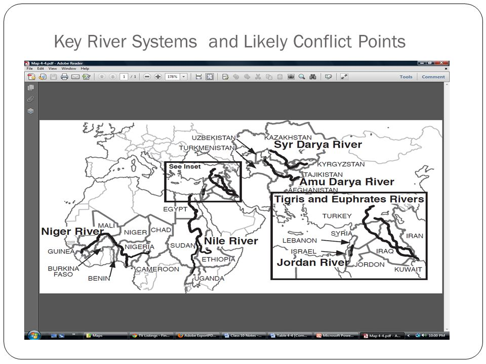 Key River Systems and Likely Conflict Points