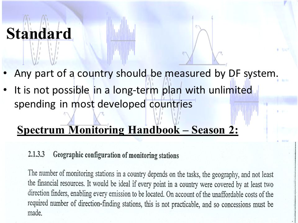 Any part of a country should be measured by DF system.