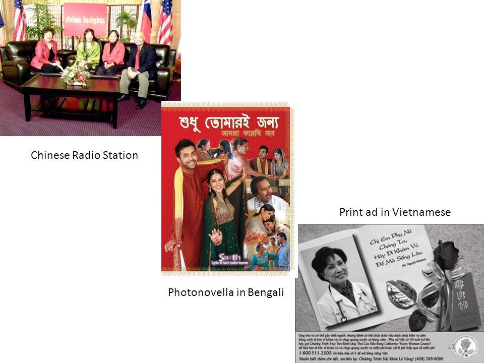 Chinese Radio Station Photonovella in Bengali Print ad in Vietnamese 21