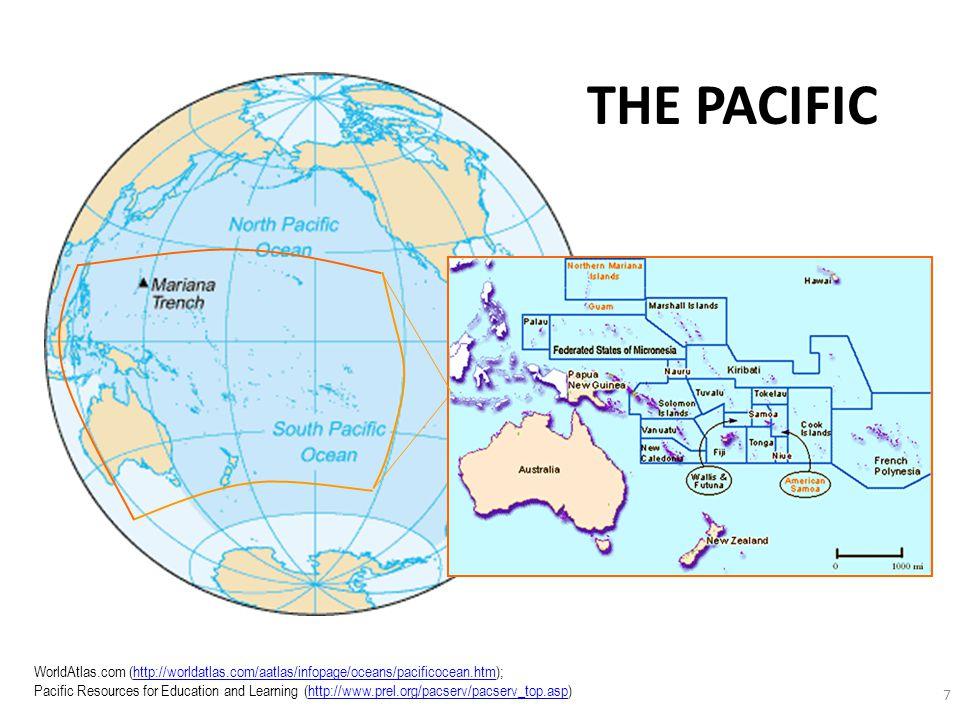 7 WorldAtlas.com (http://worldatlas.com/aatlas/infopage/oceans/pacificocean.htm); Pacific Resources for Education and Learning (http://www.prel.org/pa