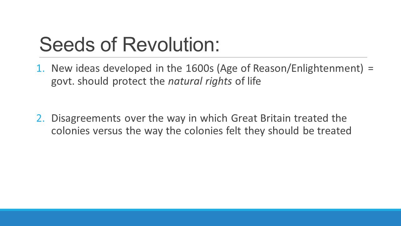 L.E.Q.: Why did the colonists fight a war for independence against Great Britain.