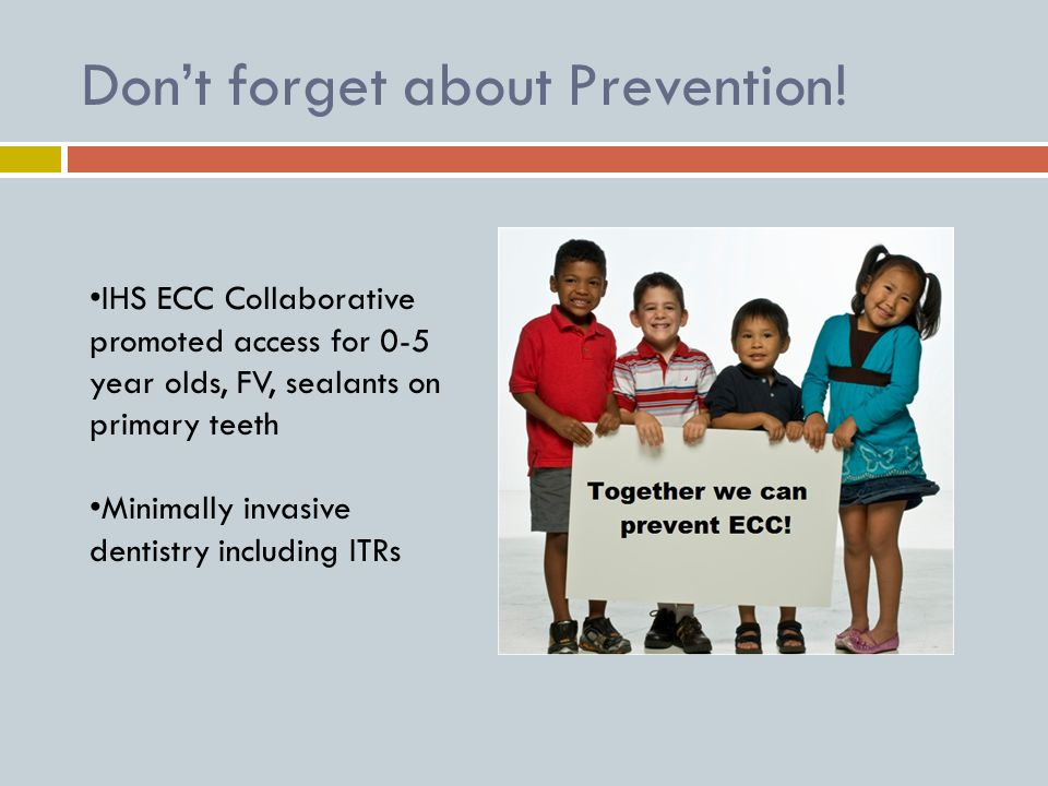 Don't forget about Prevention.