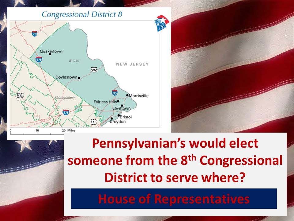 Pennsylvanian's would elect someone from the 8 th Congressional District to serve where.