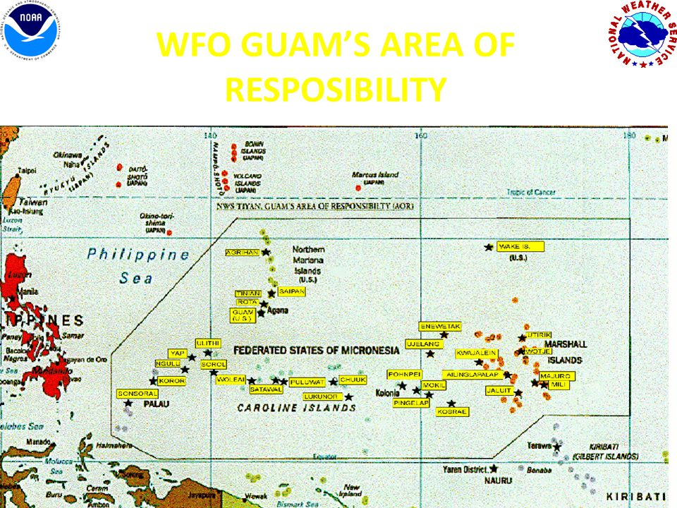 WFO GUAM'S AREA OF RESPOSIBILITY