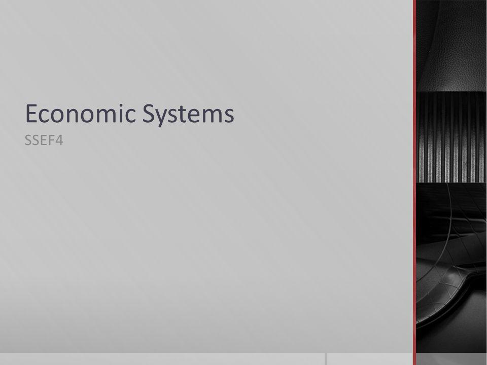 Economic Systems SSEF4
