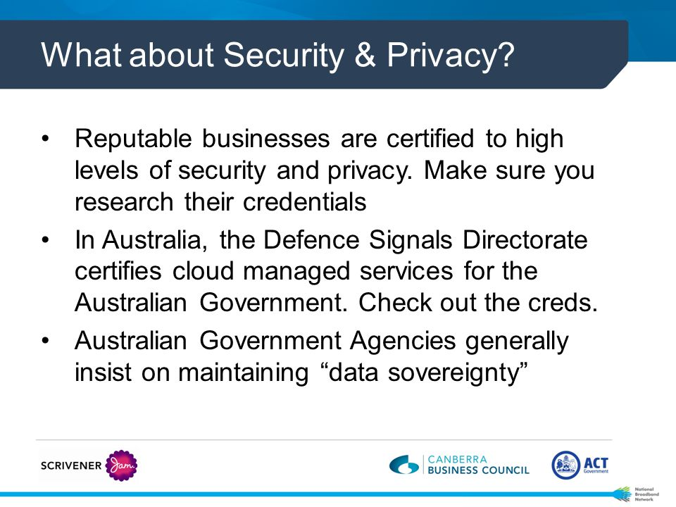 What about Security & Privacy.