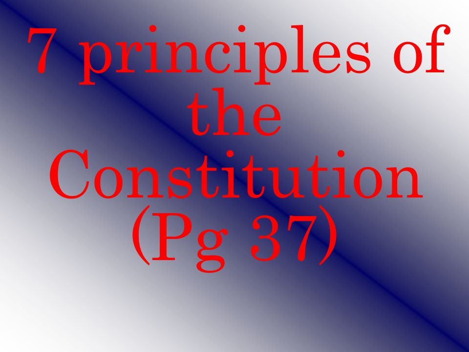 The Preamble Introduction to the US Constitution – 1 sentence States where power comes from Lists the 6 goals of US government We the People of the United States, in order to form a more perfect Union, establish Justice, insure domestic Tranquility, provide for the common defense, promote the general Welfare, and secure the Blessings of Liberty to ourselves and our Posterity, do ordain and establish this Constitution for the United States of America.