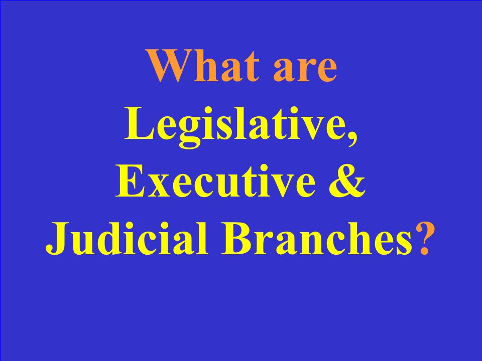 The branches of government created by the Constitution.