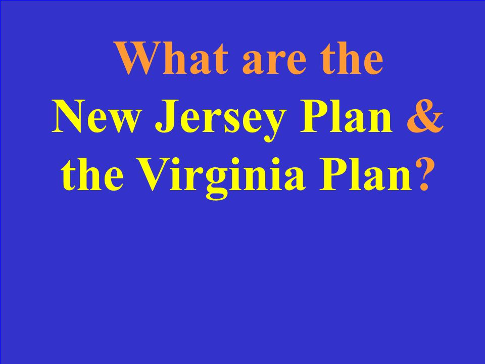 Small states favored this plan for representation while large states favored this plan.