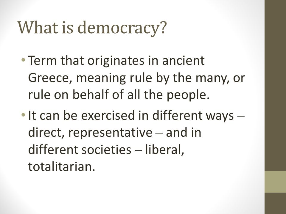 What is direct democracy.