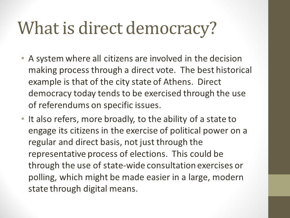 What is representative democracy.