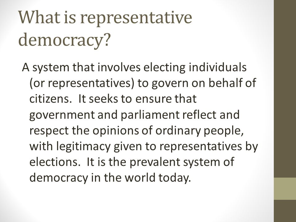 Referendums - AGAINST Undermines parliamentary sovereignty Most issues too complex for a 'yes' or 'no' question (the EU referendum may fall into this bracket) Most people lack knowledge to make informed decision Regular use could create voter apathy (or even irregular use – the last UK referendum on AV produced a 42% turnout) Results may not be decisive (the devolution referendums of 1979 were too indecisive to produce any change at all) Funding differences may affect result Possible bias in questions asked Could result in 'tyranny of the majority' (examples here from abroad – Switzerland 2009, rejection of minaret construction, 2008 California proposition rejected civil partnerships – the US has several examples)