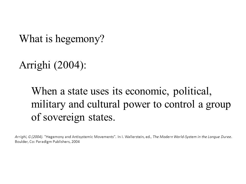 What is hegemony.