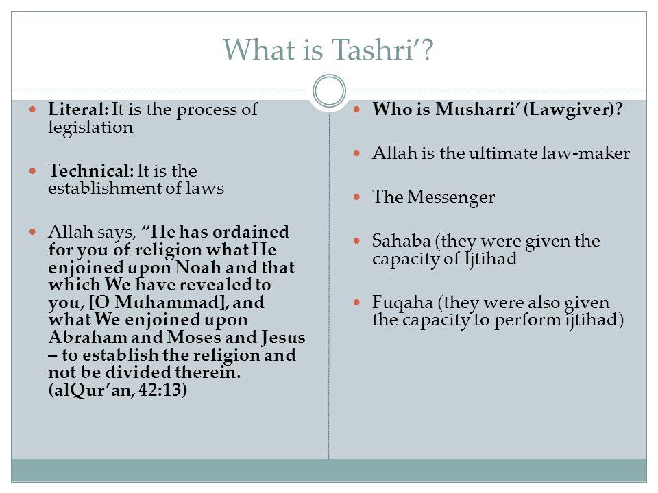 What is Tashri'.