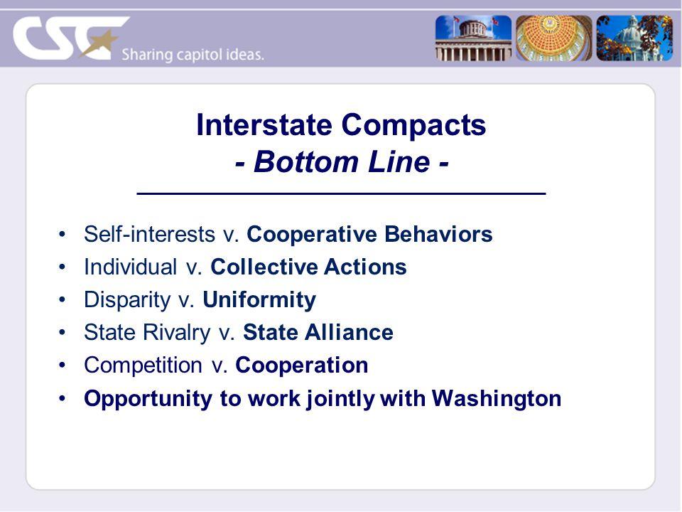 Self-interests v. Cooperative Behaviors Individual v.